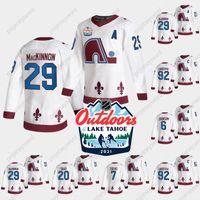 2021 Ao Ar Livre Domingo Retro Jersey Colorado Avalanche Nathan Mackinnon Gabriel Landeskog Erik Johnson Devon Toovs Brandon Saad Hockey Camisas