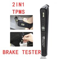2020 최신 TPMS 2in1 2 in 1 타이어 압력 테스터 + Dot3 / Dot4 / Dot5 자동 자동차 진단 도구 스캐너 용 브레이크 유체 테스터