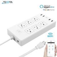 واي فاي الذكية قطاع الطاقة تصاعد حامية 6 طريقة الولايات المتحدة التوصيل الكهربائية USB المقبس تمديد المخرج التحكم عن بعد عن طريق اليكسا صفحة Google الرئيسية