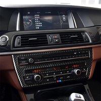 Trois couleurs Carbon Fibre CD Panneau CD Console Console Panneau de climatisation Autocollant décoratif pour BMW 5 Series F07 5GT 535i 2010-2016