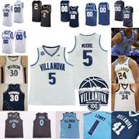 맞춤형 Villanova Wildcats 농구 유니폼 NCAA 대학 Jeremiah Robinson-Earl Swider Jermaine Samuels Justin Moore Antoine Brandon Slater