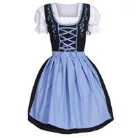 Домашнее платье для женщин Dirndl косплей Немецкий Октоберфест Баварский пивной ревкает костюмная горничная наряд модных # 06111