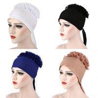 Большие цветочные шляпы ткань шнурка мусульманские шапочки тюрбан женщины мужчины головные уборные зимние многоцветные моды открытый 8 8er l2