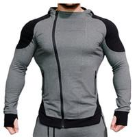 Мужские повседневные кардиганские кофты мускул мужской спортзал Фитнес тонкое пальто спортивное с капюшоном бодибилдинг
