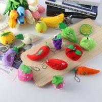 جديد الفاكهة الخضروات تصاميم أفخم قلادة لعب الأطفال أطفال سيارة قلادة حقيبة الهاتف الخليوي مفتاح خواتم المفاتيح هدايا عيد الميلاد 6-13 سنتيمتر WX-K40