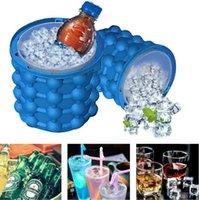 New Ice Cube Maker Genie Der revolutionäre Platz sparen Silikon Ice Eim Bucket Mold Küchenwerkzeuge für Wein