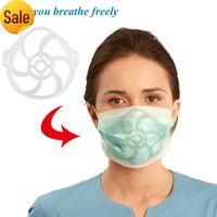 Staffa 10pcs 3D per il rossetto Protezione della guardia Protettore Casalinga Il supporto del kit di maschera con il rivestimento del viso Interno Crea la frizzante Spazio di respirazione Rixl