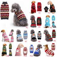 Ropa de perro de Navidad Perro Teddy Ropa Santa Claus Elk Muñeco de nieve Impresión Rayas Rayas Ropa para mascotas Decoraciones de Navidad Envío de gota XD24285