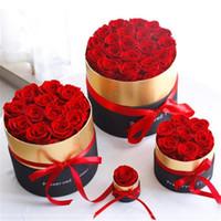 Romantik Ebedi Gül Kutusunda Korunmuş Gerçek Gül Çiçekler Kutusu Seti ile Romantik Sevgililer Günü Hediyeler En İyi Anneler Günü Hediyesi