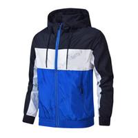 Marka Erkek Ceketler Moda Rüzgarlık Desen Mektup Baskı Ince Ceket İlkbahar Sonbahar Uzun Kollu Fermuar Spor Ceketler Koşu Spor Giyim