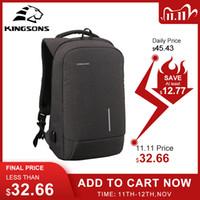 Kingsons Anti-Hırsızlık Kilit Sırt Çantası Telefon Enayi Laptop Çantaları 13''15 '' USB Şarj Sırt Çantaları Okul Çantası erkek Omuz Çantaları