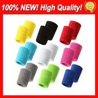 200set / lot 100% Pamuk Yeni Yüksek Kalite Ücretsiz Özelleştirilmiş Mavi Kırmızı Siyah Mor Pembe Yeşil Turuncu Bileklikler Ter Bandı Fabrika Onlie Mağaza