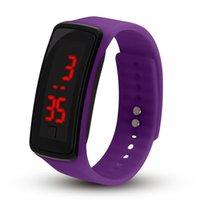 Горячая оптовая новая мода спортивные светодиодные часы конфеты желе мужчины женщины силиконовые резиновые сенсорные экраны цифровые часы браслет наручные часы