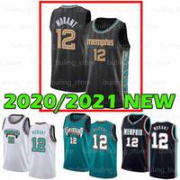 2020 2021 Yeni MemphisGrizmaJA 12 Ahlaki Jaren 13 Jackson Jr Murray Eyalet Üniversitesi Koleji Erkek Gençlik Çocuklar Basketbol Formaları
