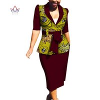 Этническая одежда весенние африканские юбки наборы для женщин DASHIKI 2 частей наборов для дам плюс размер размеров с WY3749