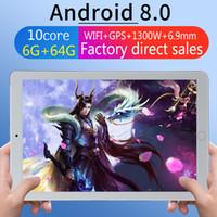 Sistema de PC do Tablet PC transfronteiriço de vendas diretas da fábrica personalizada IPS HD tela 3G chamada de 10,1 polegadas tablet pc