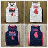 1992 Equipe dos sonhos EUA Stephen Curry # 4 Retro Basquete Jersey Masculino Costume Personalizado Qualquer Número Nome Jerseys