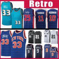 RJ 9 Barrett Patrick 33 Ewing Retro 21 Basketball Jersey Derrick 25 Rose IsiaH 11 Thomas Dennis 10 Rodman Grant 33 Hill