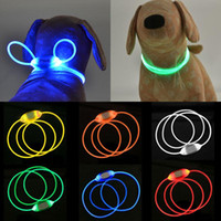 LED Pet Dog Universal Collar Night Safety Piscina Animais Anti-Perdido / Acidente de carro Coleiras de Acidente Fulgor Cães Luminais DIY Colares DIY YL0255