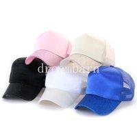 뜨거운 판매 인기있는 2021 포니 테일 야구 모자 높은 지저분한 롤빵 모자 포니 캡 조정 가능한 야구 모자 메쉬 야외 모자 FY7156