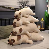 Hot 55cm-90cm grande taglia nuovo animale carino animale kawaii pug cane peluche giocattoli del sonno cuscino per bambini regalo di compleanno bambino ragazza Xmas Valentine's LJ201126