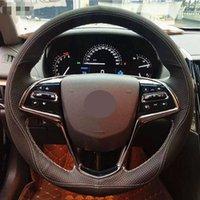 Крышка из кожи для ручной работы для Cadillac XT5 XTS ATSL SRX DIY Крышка рулевого колеса для автомобиля Универсальный 15 дюймов
