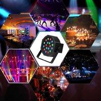 Nieuwste Design 30 W 18-RGB LED Auto / Voice Control Premium Materiaal Mini Stage Lamp (AC 110-240V) Zwart * 4 Bruiloft Party Moving Head Lights