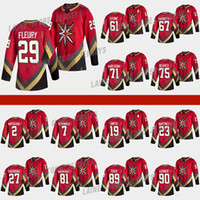 Vegas Goldene Knights 2021 Reverse Retro Jersey 61 Mark Stone 29 Marc-Andre Fleury 71William Karlsson 7 Pietrangelo 75 erregt Hockey-Trikots
