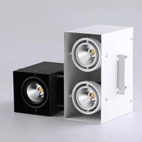Квадратный Dimmable LED настенный монтирующий нижний светильник 10W 15W 30W COB SPOT Light Single / двойная головка Потолочная лампа на поверхности.