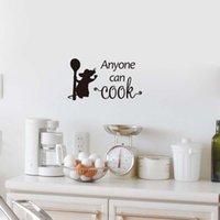 ملصقات الحائط مطبخ ماوس أي شخص يمكن طهي ملصقا لخلفية ديكور المنزل جدارية فن الخلفيات القابلة للإزالة الشارات