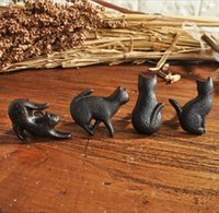 Maniglie per gatti Black Black Caste Guardaroba Armadio di vino Cassetto Cassetto Tirare American Semplice Mobili Armadi Porta Creativo Metallo Pulls