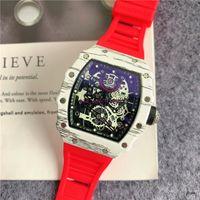 2021 RM الفاخرة رجل الساعات العسكرية مصمم الأزياء الساعات الرياضية السويسري ماركة ساعة اليد هدايا orologio دي لوسو مونتر دي لوكس