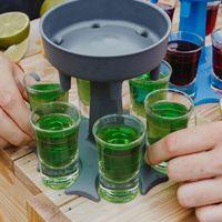 6 Shot Cam Dağıtıcı Tutucu Şarap Cam Raf Soğutucu Bira İçecek Dağıtıcı Atış Buddys Parti Hediyeler Bar İçme Araçları VTKY2150