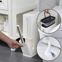 Vendita calda La cestino di plastica può impostare con la spazzola igienica Bagno Bagno Bin Bin Dustbin BASH BASH BACK BACKET BACKET BASSA BACCHETTO BACCHETTO DISPENSER 201111