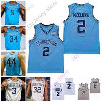 Georgetown Hoyas Basketball Jersey NCAA College Omer Yurtseven James Akinjo Mac McClung Jamorko Pickett Josh LeBlanc Jagan Mousely