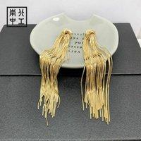 Шпилька мода звездные серьги высококачественные золотые завязанные кисточки свадебные украшения, предназначенные для женщин Кореев-серьги-2021