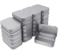 Metal rectangular Vacío Clases Bisagras Caja de contenedores Mini Caja portátil Kit de almacenamiento pequeño, Organizador de hogar