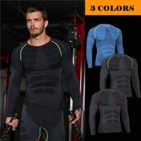 Мужские формирователи тела мужчины для похудения талия футболка сжатие грудной клетки для бодибилдинга с длинными рукавами рубашки нижнее белье O дышат до