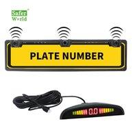Sensor de aparcamiento del automóvil Kit LED inalámbrico EUR Europa Matrícula de placa de matrícula Sistema de radar inversa