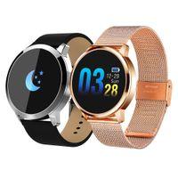 حار Q8 أزياء المرأة الذكية ووتش oled شاشة اللون smartwatch اللياقة تعقب ووتش القلب معدل ضغط الدم بلوتوث
