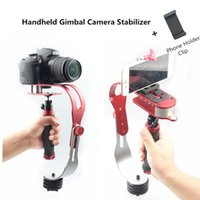 Legering Aluminium Mini Handheld Digitale Camera Stabilisator Video Steadicam Mobile DSLR 5DII Motion DV Steadycam + Smartphone-klem