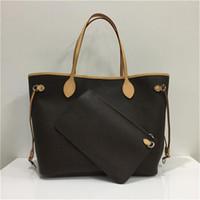 Luxurys Designer Handtaschen Dame Echtes Ledertasche mit Buchstaben Mode Taschen Lady Brown Handtaschen Leder Kupplung Tragetasche Geldbörsen mit Geldbörsen