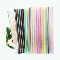 Nylon Net Transparent Cosmetic Bag Colorful Line Stripe Storage With Bouch Mujeres Maquillaje Paquete de bolsillo Conveniente 0 95ZH N2