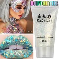 1 ADET Göz Farı Glitter Tırnak Saç Vücut Yüz Glitter Jel Sanat Flaş Kalp Gevşek Sequins Krem Dekorasyon Parti Festivali