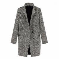Weixinbuy 2016 старинные женщины осень весеннее длинное пальто Parka куртка траншея шерстяная смесь сальфы ZT11