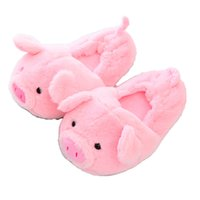 Millffy large size plush comfort code couple Pack heel pink pig slippers ins style cute pig cotton slippers couple home shoes 201128