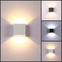 6W LED 벽 램프 알루미늄 벽 라이트 레일 프로젝트 광장 현대 미니멀리스트 LED 침실 침실 Lampada 장식 예술