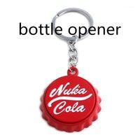 Spiel Nuka Cola Fallout Botter Opener Keychain Schlüsselanhänger Anhänger PIP Junge Schmuck Geschenk für Auto Schlüsselinhaber Freundschaft Zubehör1