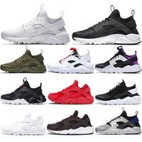 2021 Ucuz Ücretsiz Çorap Huarache 1.0 4.0 Koşu Ayakkabıları Kadın Erkek Beyaz Siyah Kırmızı Örgü Nefes Spor Sneakers Erkek Eğitmenler