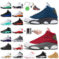Nike Air Jordan 13 Jordan Retro 13 13s Com Box Flint Vermelho Superior Qualidade Jumpman Mes Sapatos de Basquete Hyper Royal Starfish Playground Sneakers Treinadores